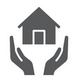 home insurance glyph icon estate and property vector image vector image
