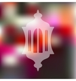 lantern icon on blurred background vector image vector image