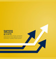 leading arrow concept for business presentation vector image vector image
