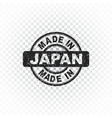 made in japan stamp on isolated background vector image vector image