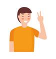 man gesture hands vector image