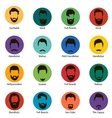 mans trendy haircut types for barber shop vector image vector image