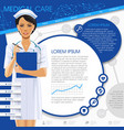medical template with a nurse girl round frames vector image vector image