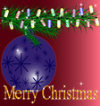 Merry Christmas 01 vector image vector image