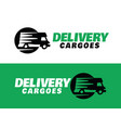 modern professional logo delivery cargoes vector image vector image