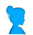 nice girl - blue paper vector image