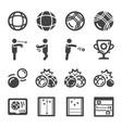 petanque icon set vector image