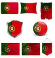 portugal flag flag symbol banner portugal vector image vector image