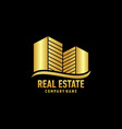 real eastate building logo vector image vector image