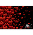 Red Love Romantic Hearts on Abstract Love vector image