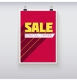 Sale Poster with Long Shadow vector image vector image