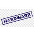 scratched hardware rectangle stamp vector image vector image