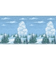 Seamless Christmas Winter Forest Landscape vector image vector image