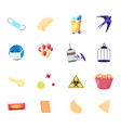 set icons medical mask gloves and recycling vector image