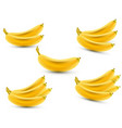 set of 3d realistic bananas banana icon vector image
