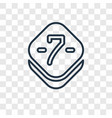 seven concept linear icon isolated on transparent vector image