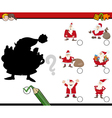 shadows activity with santa vector image vector image