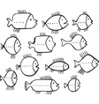 Shoal of fishes vector image vector image