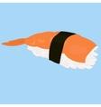 Shrimp cartoon sushi japanese food isolated on vector image
