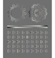 Silver mandala set vector image vector image