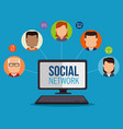 social network concept people connected vector image vector image