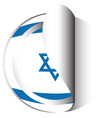sticker design for flag of israel vector image vector image