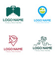travel logo and icon design vector image vector image
