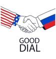 USA and Russia friendship vector image vector image