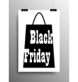 Vertical Poster A4 Black Friday Sale Discount vector image