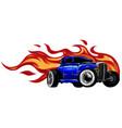 vintage car hot rod garage hotrods carold vector image vector image