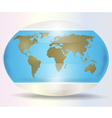 World map white vector image vector image