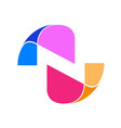 abstract initial letter n logo design template vector image