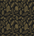Black and gold seamless pattern with leaves Styles vector image