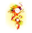 Floral colorful banner vector image