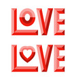 3d love composition vector image vector image