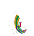 abstract rainbow wave on white background vector image