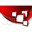 Abstract red background wtih squares vector image vector image