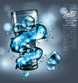 advertising design soda water high detailed vector image vector image