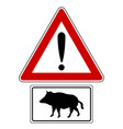 attention sign with optional label boar vector image vector image