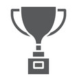 award cup glyph icon win and prize trophy cup vector image