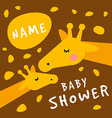 bashower invitation card cover template vector image