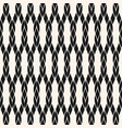 black and white geometric rope seamless pattern vector image