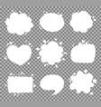 blank empty speech bubbles vector image