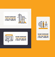 builder business card building construction vector image vector image