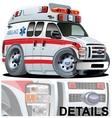 Cartoon Ambulance Car