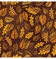 Cartoon cute hand drawn Autumn seamless pattern vector image vector image