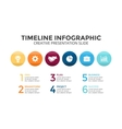 circles timeline infographic diagram chart vector image