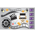 Collection of cinema or movie items vector image vector image