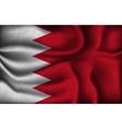 crumpled flag bahrain on a light background vector image vector image