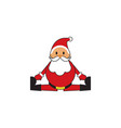 cute santa claus split fun vector image vector image